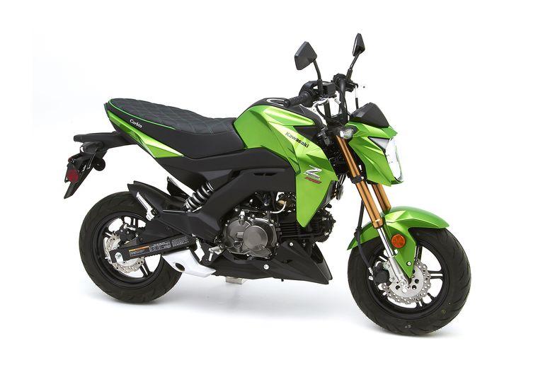 Kawasaki Z125 Seat Custom Carbon with Green Stitching For Kawasaki Z125 2013-2019 And Z125 Pro All Model