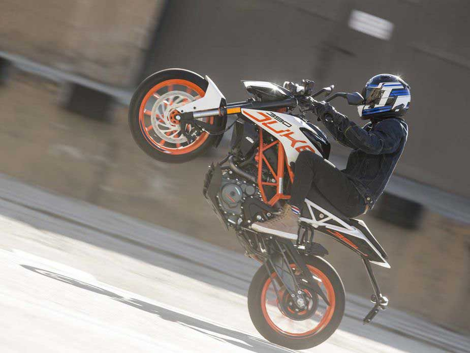 The KTM 390 Duke is one of our favorites in the segment.
