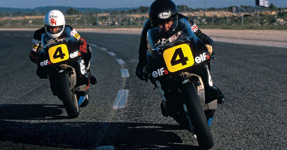 1984 Elf GP 500cc Elf-2 Honda Racing Grand Prix France Motorcycle Photo Card