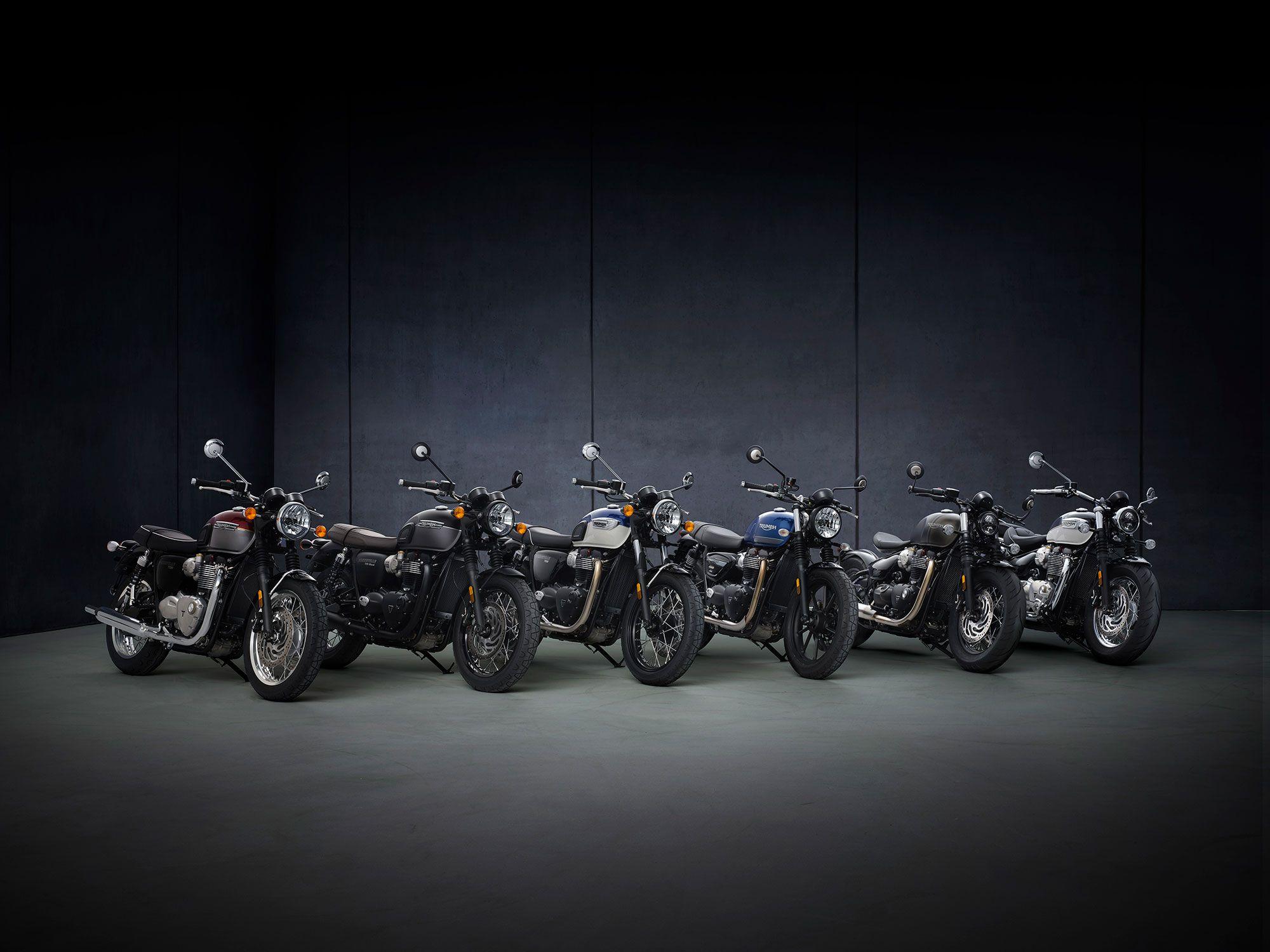 The entire Triumph Bonneville lineup gets reworked for 2021.