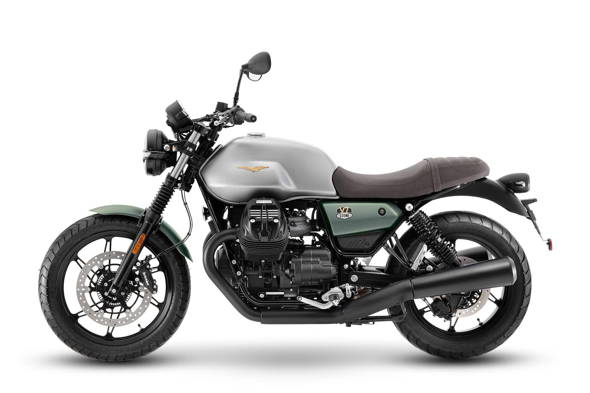 2021 Moto Guzzi V7 Stone (100th Anniversary Livery).