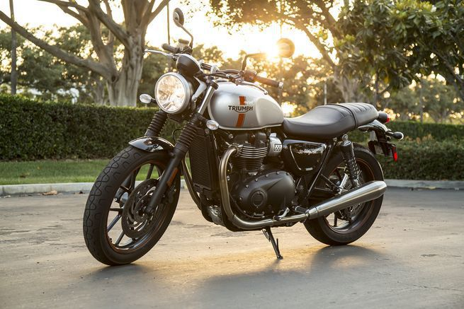<strong>Triumph Street Twin</strong> <br /> Coming in with a 29.9-inch seat height, the Triumph Street Twin is a great motorcycle for short male or female riders.