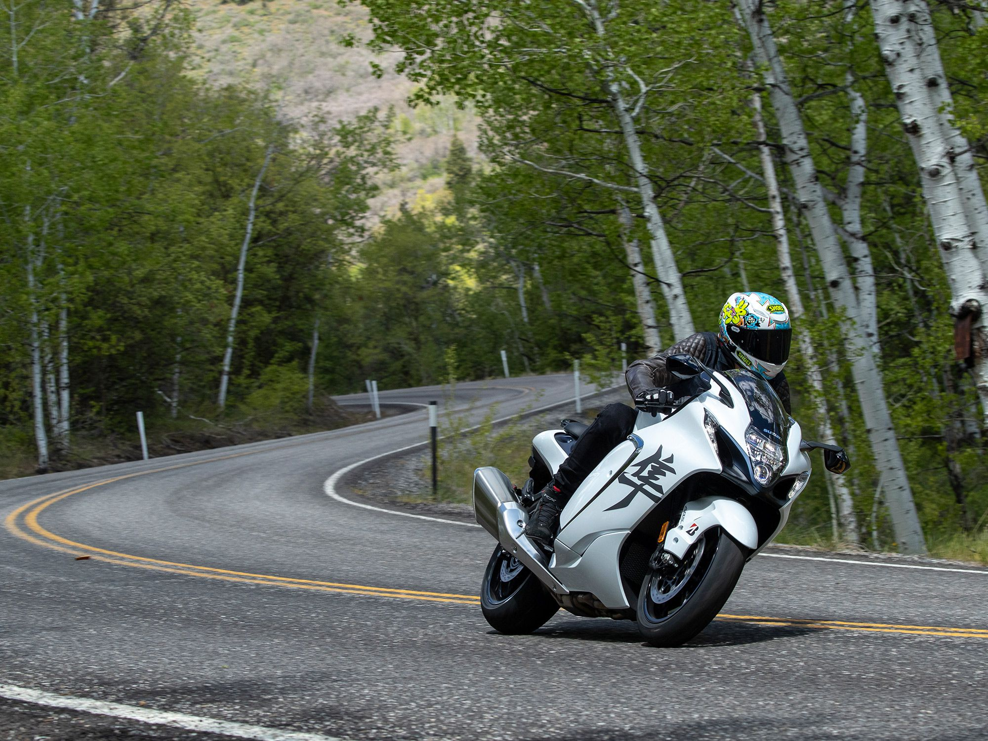 We're always impressed by how well Suzuki's Hayabusa handles for a nearly 600-pound sportbike. Its handling is even more effortless for 2022.