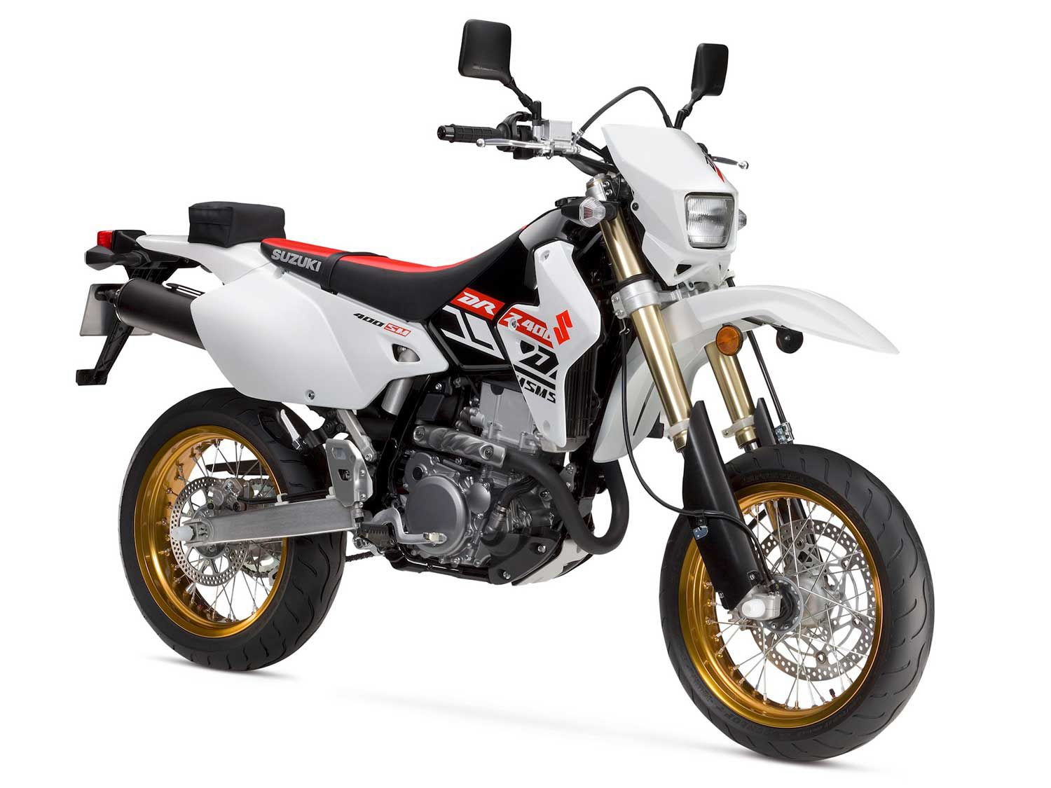 The 2019 Suzuki DR-Z400SM has the same styling and internals as the first one that rolled off the production line.