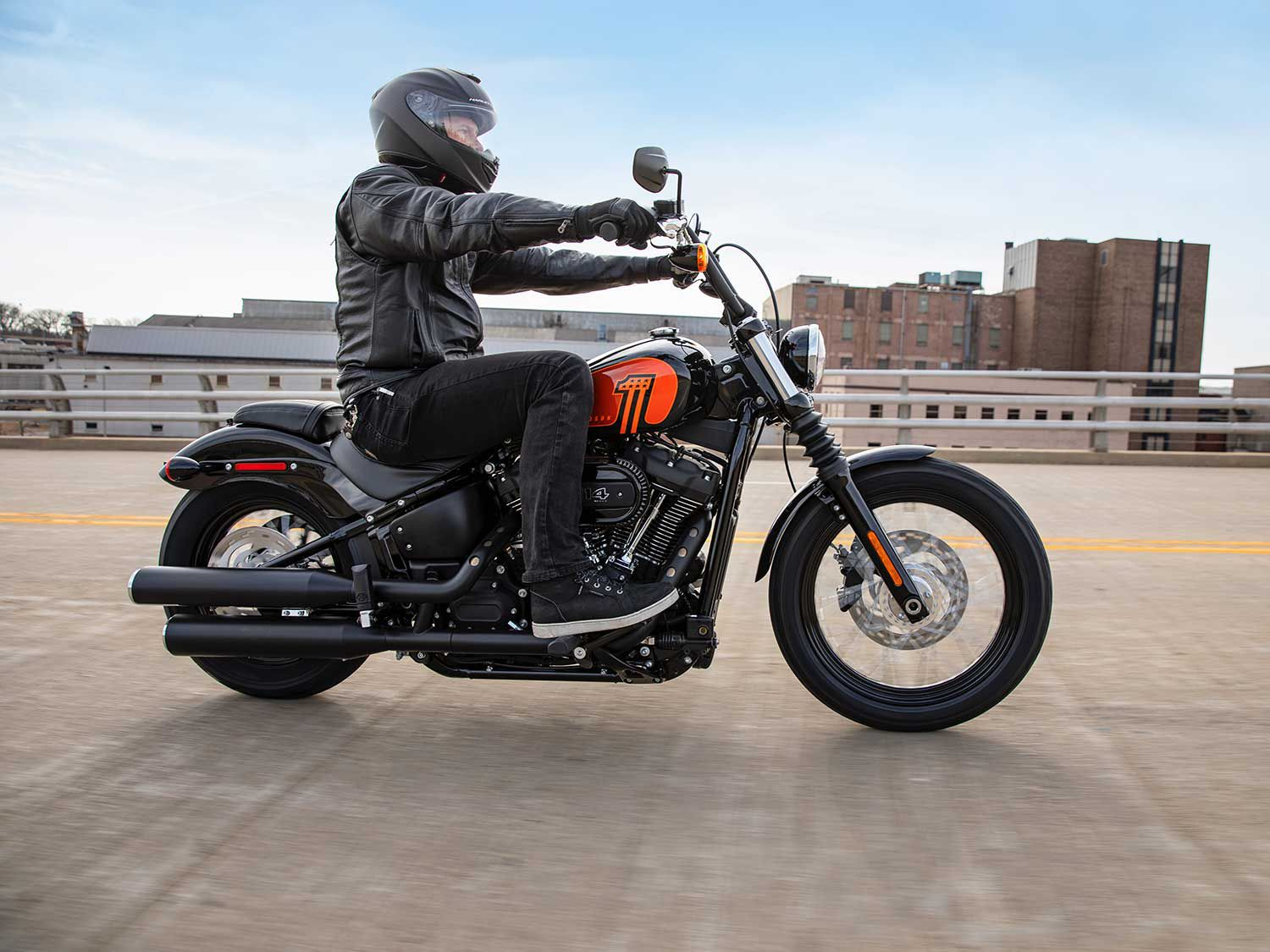 The 114ci Milwaukee-Eight V-twin provides more power and pull than before.